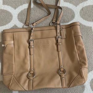 Tan Coach Tote Bag